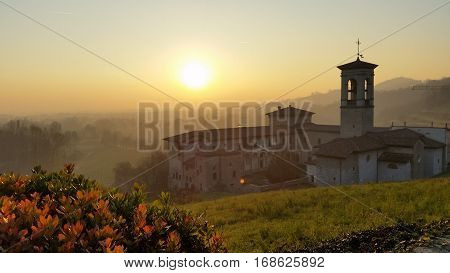 The Sunset  at Astino Monastery in Italy