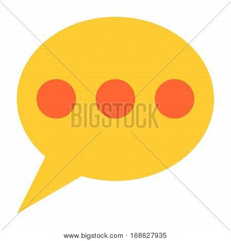 Flat speech bubble icon chat room sign forum internet button. Quick and easy recolorable shape isolated from background. Vector illustration a graphic element for web internet design.