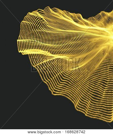 Cobweb. Network background. Connection Structure. 3D Technology Style. Vector Illustration with Particle.
