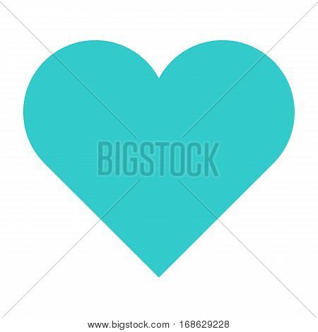Flat heart icon love sign favorite interface button. Multimedia audio video movie pictogram. Vector illustration a graphic element for web internet design