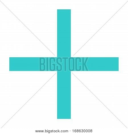 Flat plus icon criss cross sign addition interface button. Multimedia audio video movie pictogram. Vector illustration a graphic element for web internet design.
