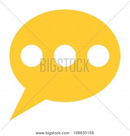 Flat speech bubble icon chat room sign forum internet button. Quick and easy recolorable shape isolated from background. Vector illustration a graphic element for web internet design