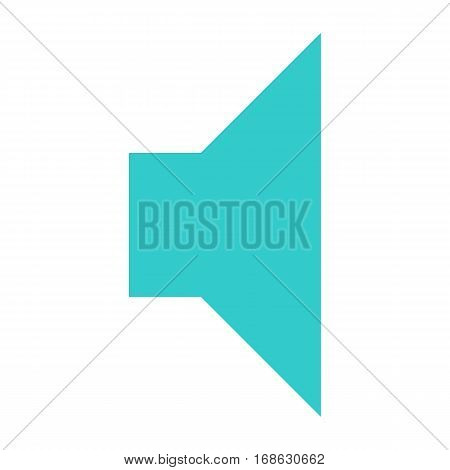 Flat volume icon loudspeaker sign speaker interface button. Multimedia audio video movie pictogram. Vector illustration a graphic element for web internet design