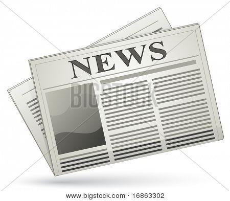 Vector newspaper icon