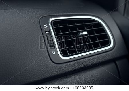 Car air conditioning. The air flow inside the car. Detail interior of car