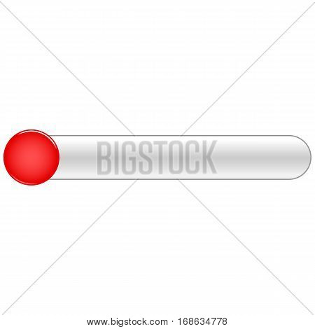 Red blank circle glossy button rounded rectangle. Vector illustration a graphic element for web internet design