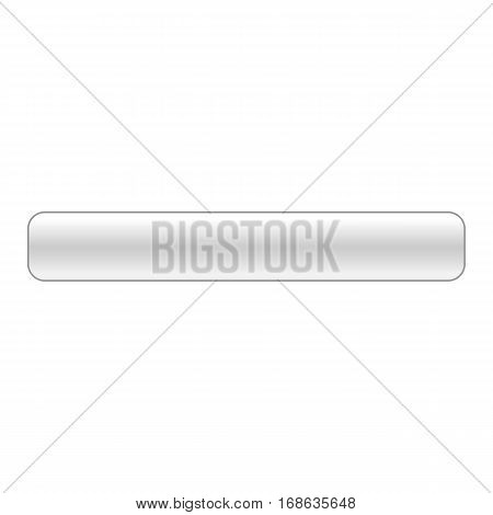 Blank glossy button rounded rectangle. Vector illustration a graphic element for web internet design