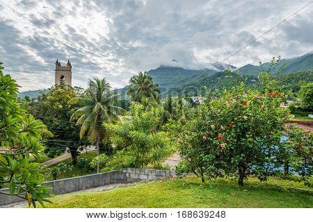 Beau Vallon area on Mahe island, Seychelles