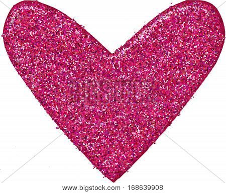 pink glitter heart to use as an addon or as is