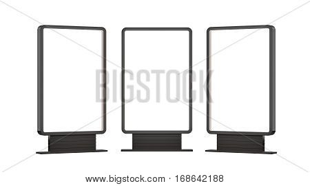 Lightboxes Isolated On white Background. 3D rendering. Template for your Design