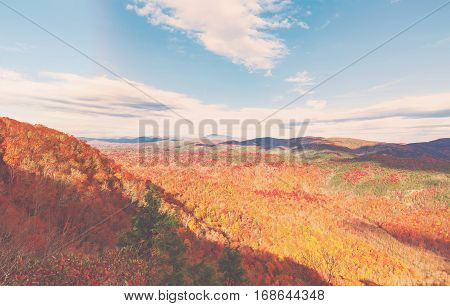 Blue Ridge Mountains In Autumn In North Carolina