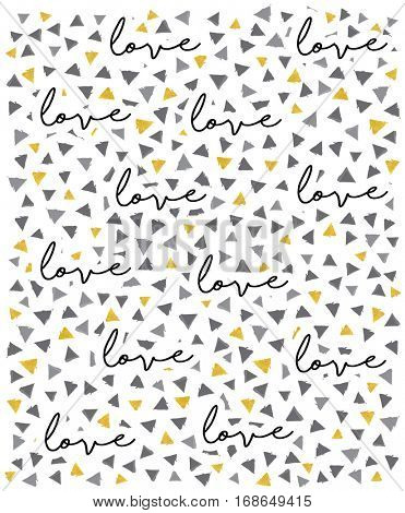 VECTOR Gold and Grey triangles PATTERN, LOVE BACKGROUND