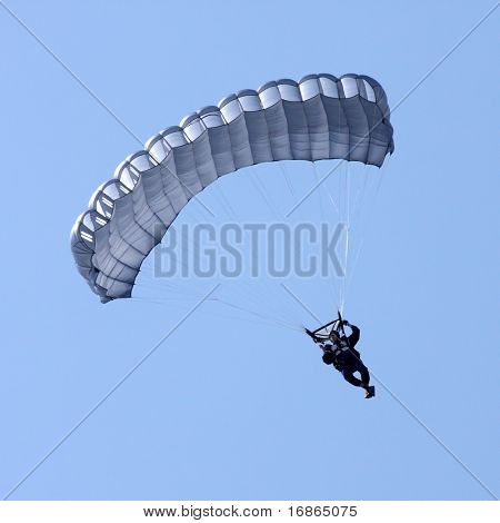 Paratrooper in airport Pilsen Line - Czech Republic Europe