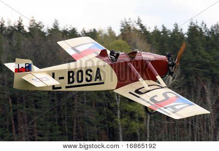 Historic plane Avia BH 5 in airport Plasy - Czech Republic Europe