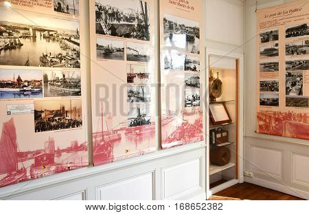 Saint Clement des Baleines France - september 26 2016 : the lighthouse museum