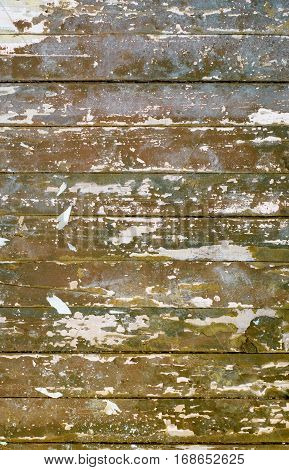 shabby old painted wood plank horizontal background
