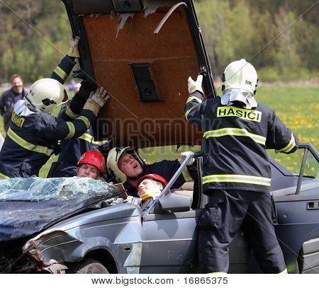 Accident - training rescue team