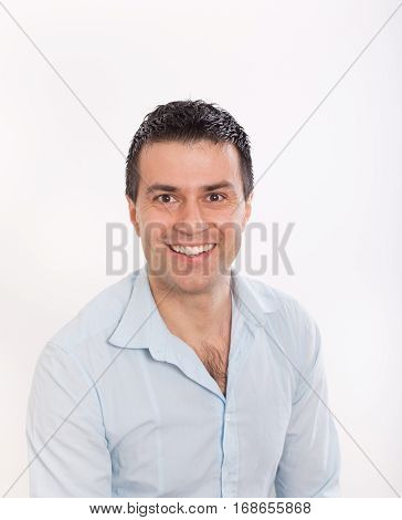 Portrait Of Smiling Man In Shirt