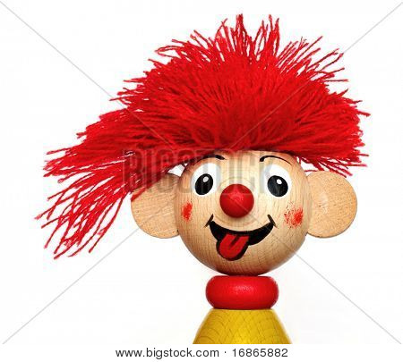 Smiling red haired puppet - unauthorized homework