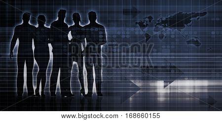 Digital Advertising on the Web and Internet Media 3D Illustration Render
