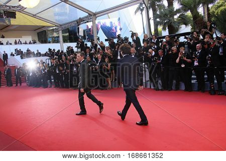 Gad Elmaleh attends the 'Elle' Premiere during the 69th annual Cannes Film Festival at the Palais des Festivals on May 21, 2016 in Cannes, France.