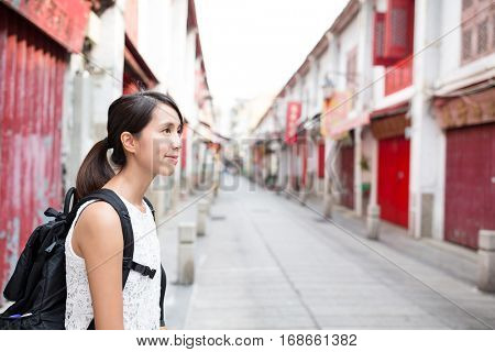 Young woman in Macao city