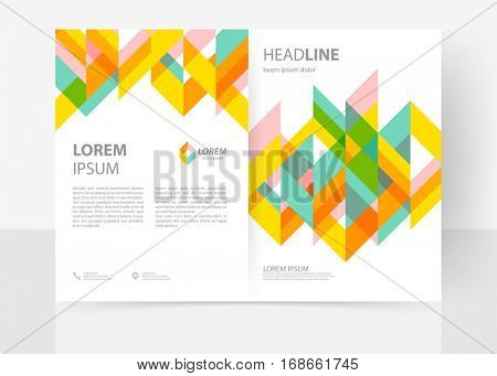 Vector cover template for flyer, catalog, report, brochure. Abstract clean geometric design. EPS 10