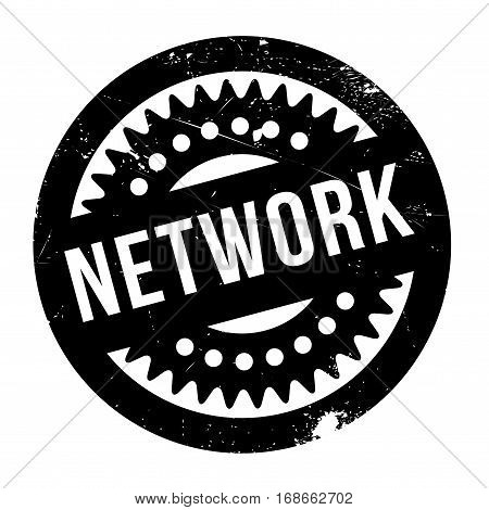Network stamp. Grunge design with dust scratches. Effects can be easily removed for a clean, crisp look. Color is easily changed.