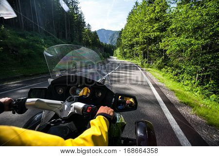 Chronicles of bikers or road adventure. According to the forest road.
