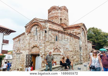 NESSEBAR, BULGARIA - AUG 29: Saint John the Baptist Church in Old Nessebar, Bulgaria at August 29, 2016