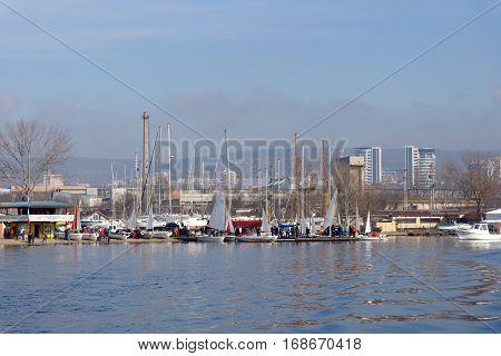VARNA, BULGARIA - MARCH 03, 2014: The national sailing boat race