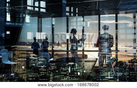 Everyday office life. Mixed media . Mixed media