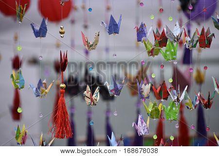 Japanese origamis in bonori encounter. Buenos Aires