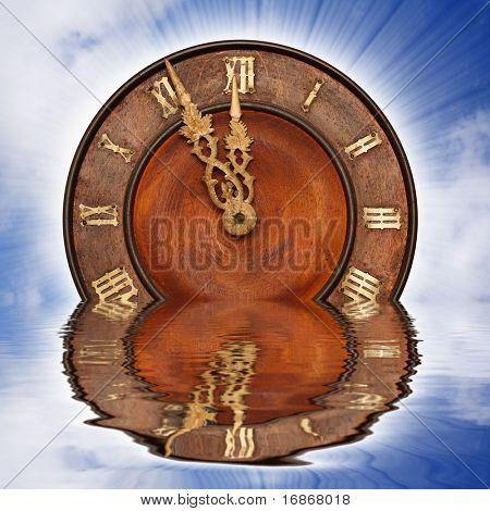 Sinking clock - business metaphor