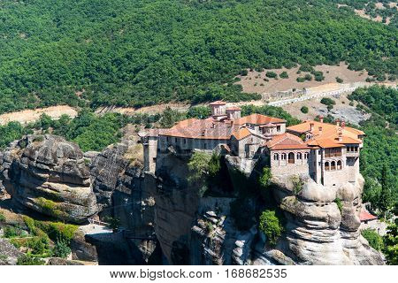 Amazing Meteora monastery Varlaam in kalambaka Greece