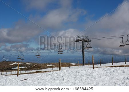 the mountain ski resort in Serra da Estrela. Serra da Estrela is the only ski resort in Portugal. Serra da Estrela, Portugal