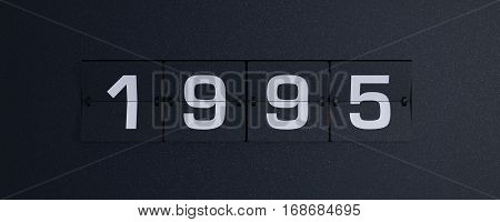 3d rendering flip board year 1995 background