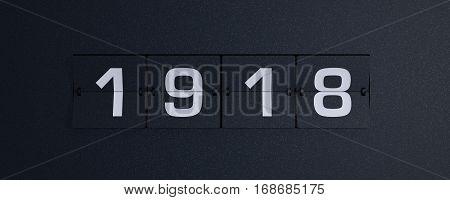 3d rendering flip board year 1918 background
