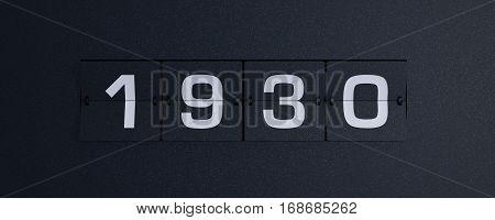 3d rendering flip board year 1930 background