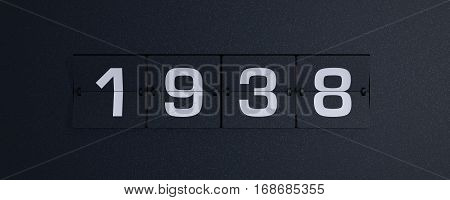 3d rendering flip board year 1938 background