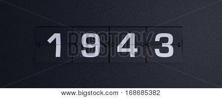 3d rendering flip board year 1943 background