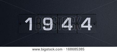3d rendering flip board year 1944 background