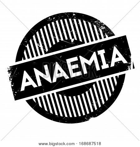 Anaemia rubber stamp. Grunge design with dust scratches. Effects can be easily removed for a clean, crisp look. Color is easily changed.