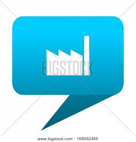 factory blue bubble icon