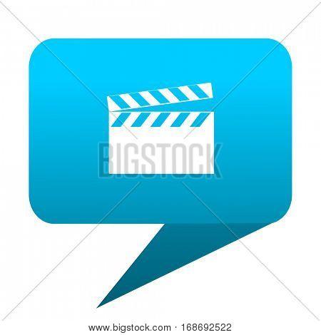video blue bubble icon