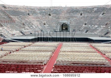 Roman Amphitheater in Verona Italy a UNESCO World Heritage site.