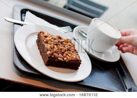 Hazelnut Cake And Coffee