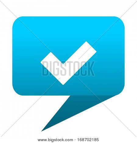 accept blue bubble icon
