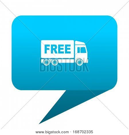 free delivery blue bubble icon