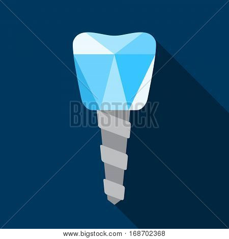 Dental implant icon in modern polygonal style